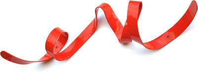 Arredamento - Appendiabiti  - Appendiabiti Mini Ruban - L 60 cm di Pa Design - Rosso - metallo laccato