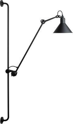 Applique avec prise N°214 / Lampe Gras - DCW éditions noir satiné en métal