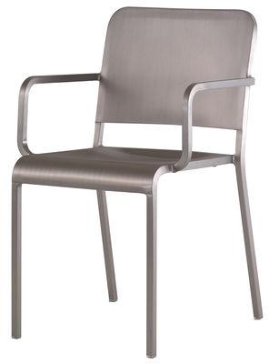 Furniture - Chairs - 20-06 Armchair - Aluminium by Emeco - Brushed aluminium - Aluminium recyclé