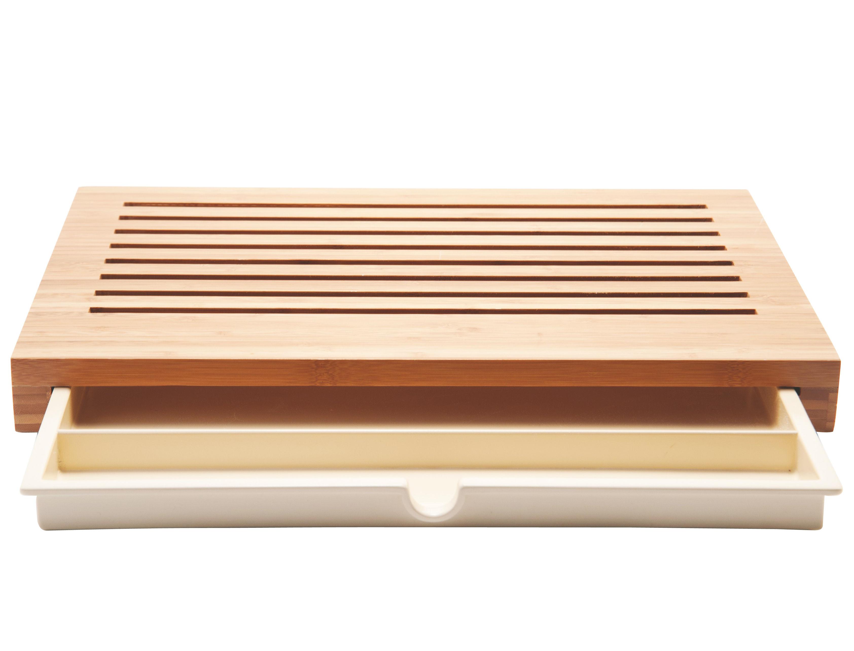 Cucina - Pratici e intelligenti - Asse per il pane Sbriciola di Alessi - Bambù naturale - Bambù, Resina termoplastica