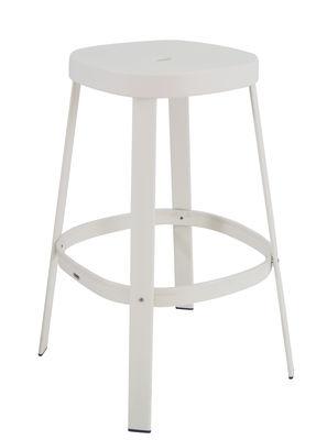 Möbel - Barhocker - Thor Barhocker / H 75 cm - Metall - Emu - Mattweiß - gefirnister Stahl