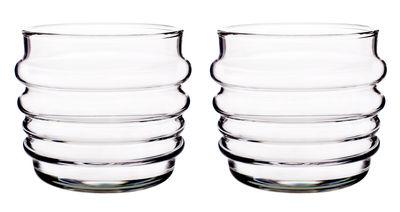 Tavola - Bicchieri  - Bicchiere Sukat Makkaralla - /set da 2 di Marimekko - Sukat Makkaralla - trasparente - Vetro soffiato a bocca