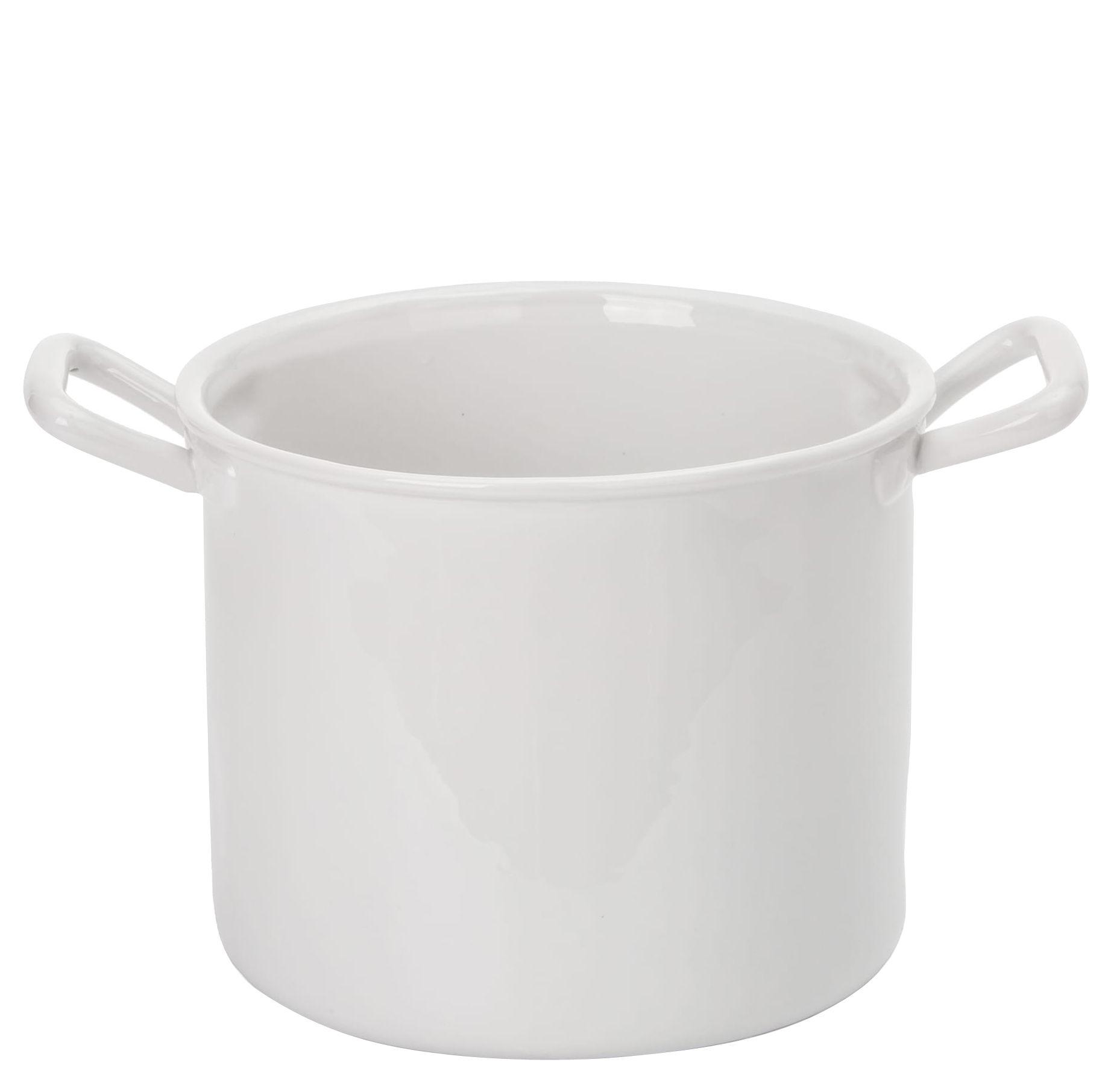 Arts de la table - Saladiers, coupes et bols - Bol Estetico Quotidiano / Pot - Ø 19 x H 16 cm - Seletti - H 16 cm / Blanc - Porcelaine