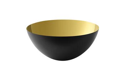 Tableware - Bowls - Krenit Bowl - Ø 12,5 x H 5,9 cm - Steel by Normann Copenhagen - Black / Gold - Enamelled steel