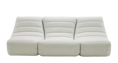 Canapé 3 places ou + Saparella (1965) / 3 modules - L 238 cm - Cinna blanc en tissu