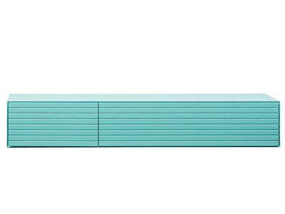 Arredamento - Raccoglitori - Cassettiera Toshi - / Modello n°3 - L 78 cm x H 13,3 cm di Casamania - Turchese - MDF laccato, Metallo