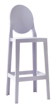 Chaise de bar One more / H 65cm - Plastique - Kartell bleu lavande en matière plastique