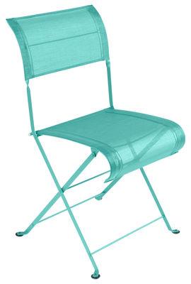 Chaise pliante Dune / Toile - Fermob bleu lagune en tissu