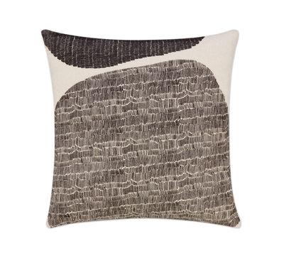 Coussin Stitch / 60 x 60 cm - Brodé - Tom Dixon noir,beige en tissu