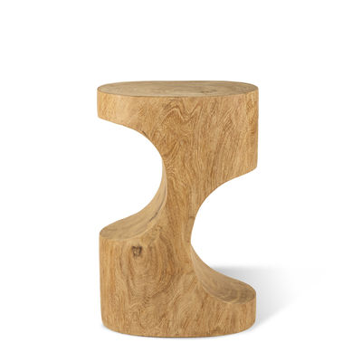 Furniture - Coffee Tables - Double Arch End table - / End table - Hand-sculpted wood by Pols Potten - Natural wood - Dimb wood