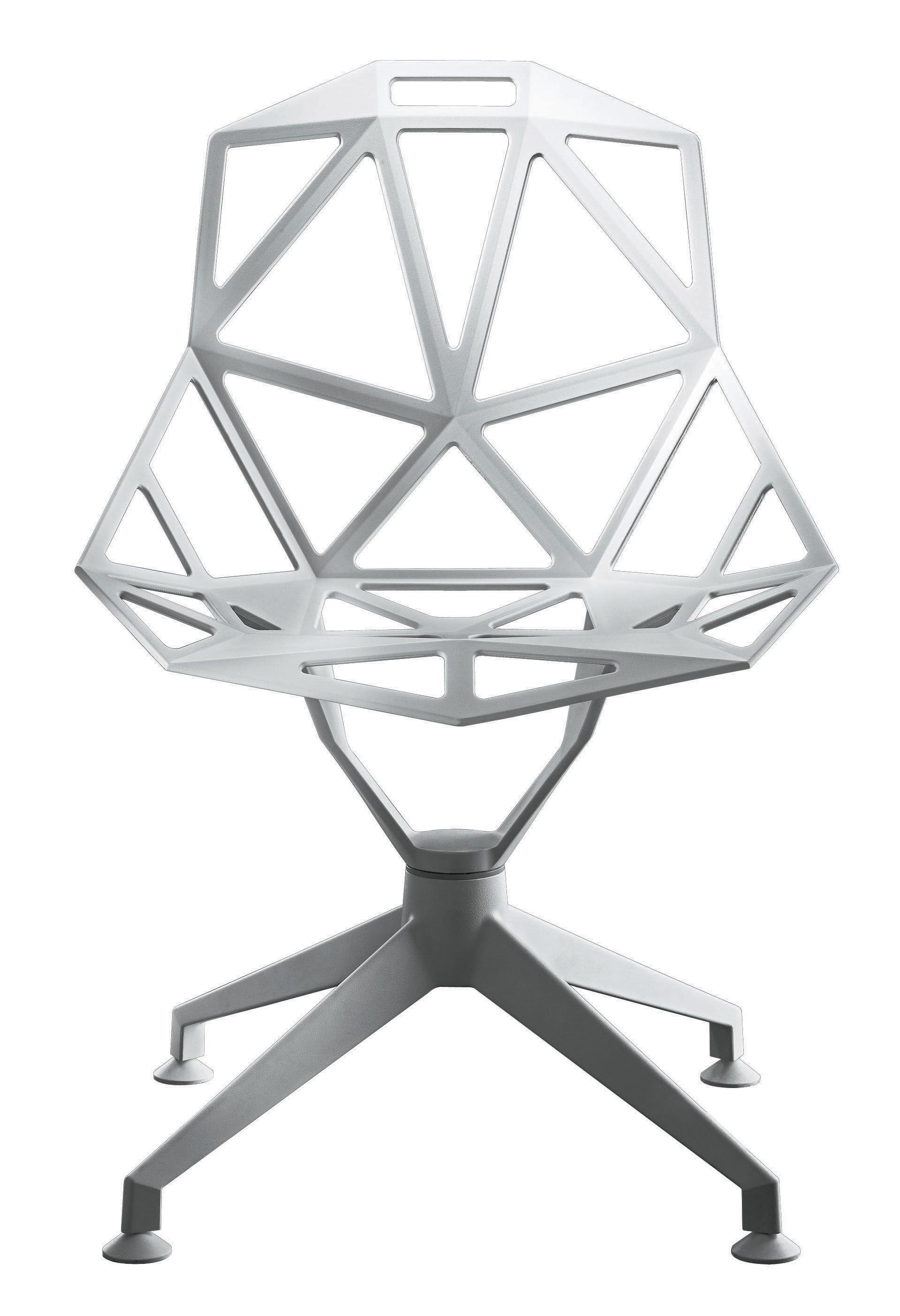 Mobilier - Chaises, fauteuils de salle à manger - Fauteuil pivotant Chair One 4Star / Métal - Magis - Blanc - Fonte d'aluminium verni