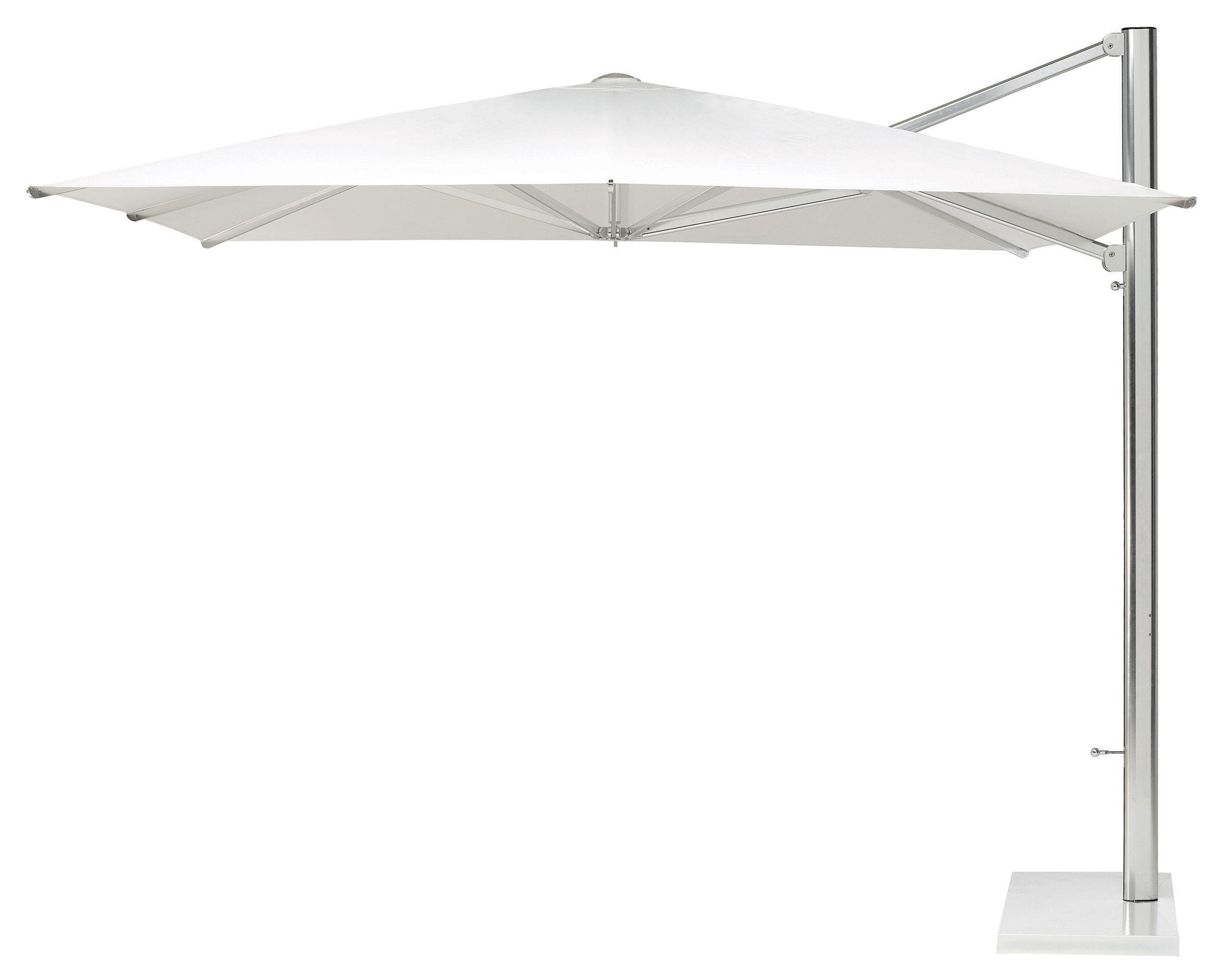 Outdoor - Sonnenschirme - Shade Freiarmschirm 300 x 300 cm - Ampelschirm - Emu - Sonnenschirm weiß - Metall, Polyacryl-Gewebe