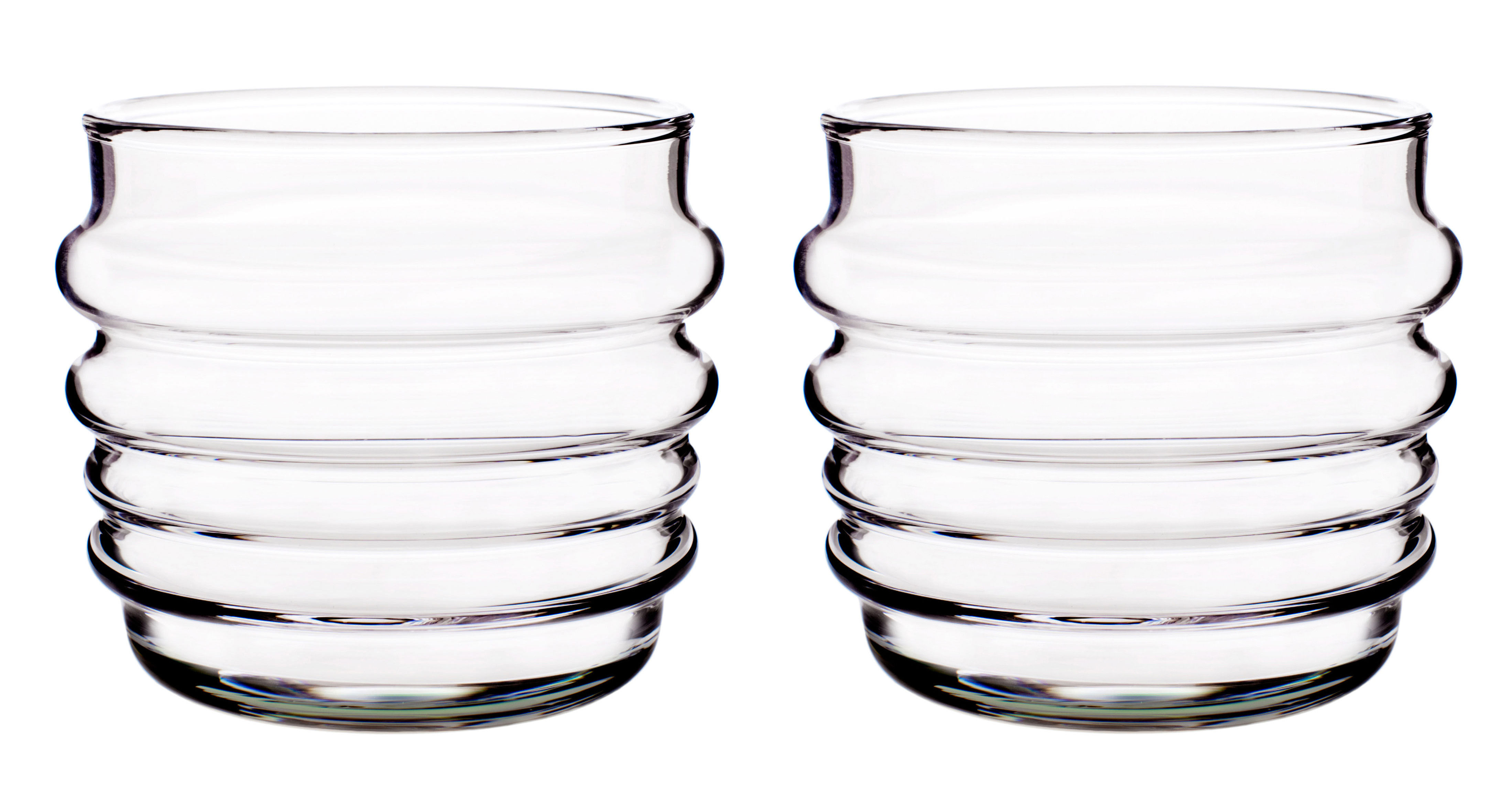 Tableware - Wine Glasses & Glassware - Sukat Makkaralla Glass - Set of 2 by Marimekko - Sukat Makkaralla - Clear - Mouth blown glass