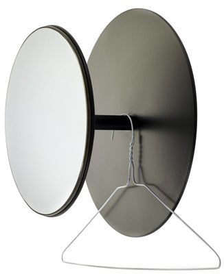 Furniture - Coat Racks & Pegs - Reflect Hook - Mirror - Ø 30 cm by Serax - Black / Mirror - Glass, Metal