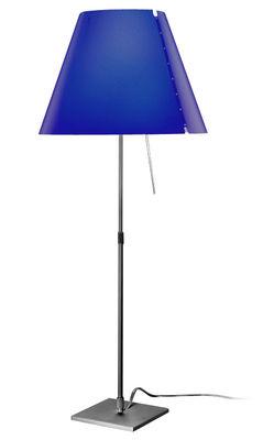 Illuminazione - Lampade da tavolo - Lampada da tavolo Costanza di Luceplan - Blu - alluminio verniciato, policarbonato