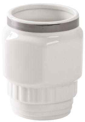Arts de la table - Tasses et mugs - Mug Machine Collection -n°1 - Diesel living with Seletti - Lisse/ Blanc & argent - Porcelaine