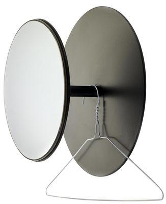 Mobilier - Portemanteaux, patères & portants - Patère Reflect / Miroir - Ø 30 cm - Serax - Noir / Miroir - Métal, Verre