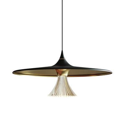 Lighting - Pendant Lighting - Ipno Pendant - / LED - Ø 62 cm by Artemide - Black & gold - Methacrylate, Painted aluminium