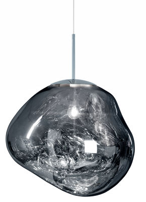 Lighting - Pendant Lighting - Melt Pendant - Ø 50 cm by Tom Dixon - Chromed - Polycarbonate