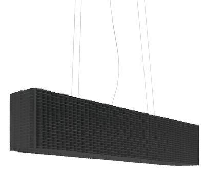 Leuchten - Pendelleuchten - Plissé Pendelleuchte ausziehbar - Luceplan - Schwarz - Polyester-Gewebe, Stahl