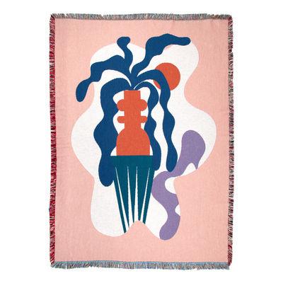 Dossiers - Pasqua - Plaid Badu - / By Mina Wright - 137 x 178 cm di Slowdown Studio - Mina Wright - Cotone riciclato