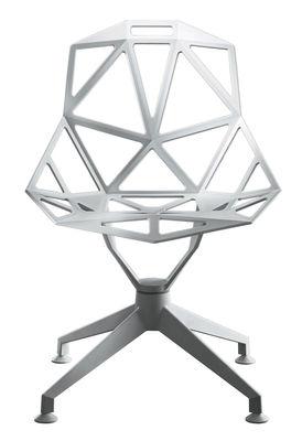 Arredamento - Sedie  - Poltrona girevole Chair One 4Star di Magis - Bianco - Ghisa di alluminio verniciato