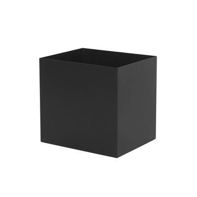 Pot / Pour jardinière Plant Box - Prof. 25 cm - Ferm Living noir en métal