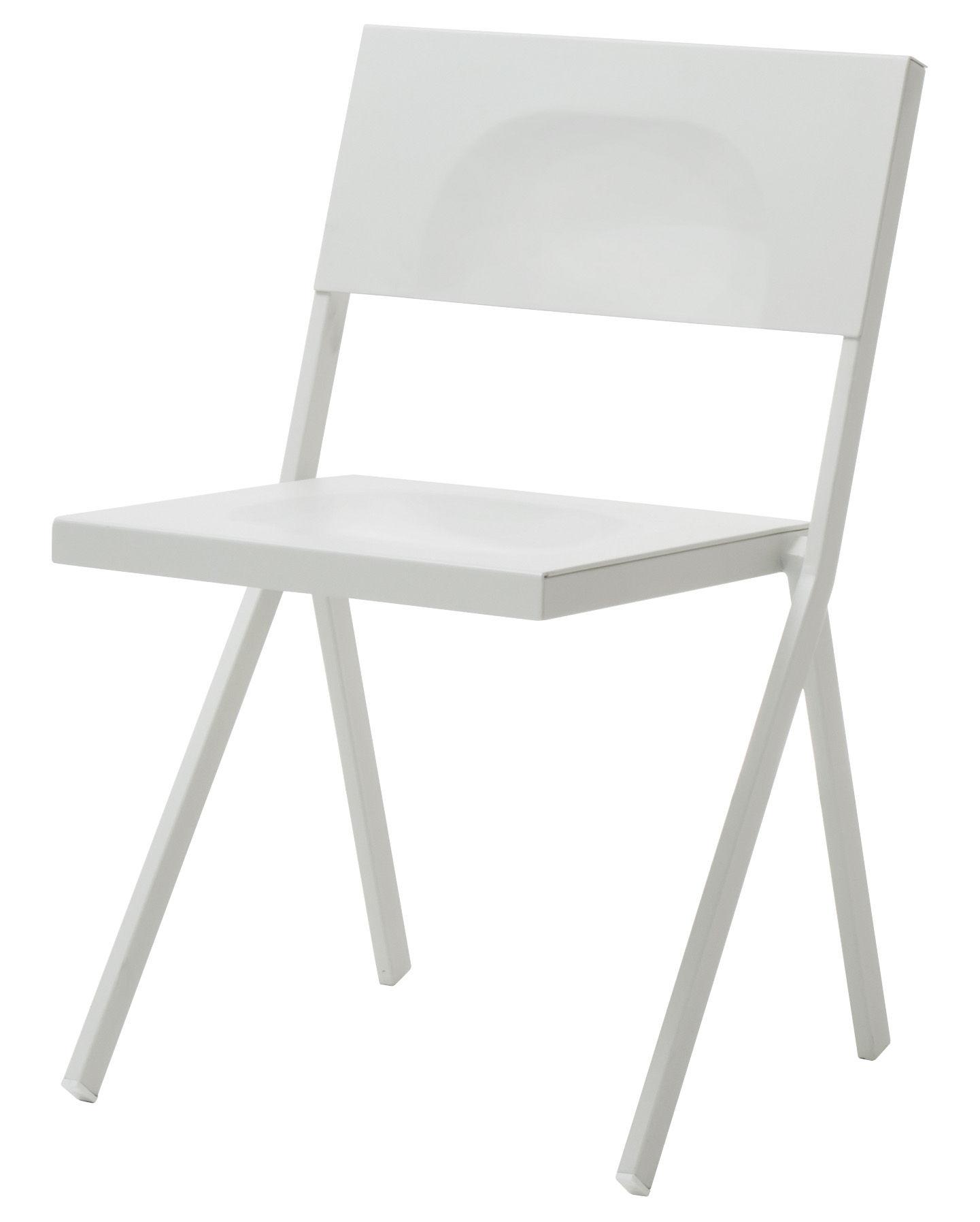 Arredamento - Sedie  - Sedia impilabile Mia di Emu - Bianco - Acciaio, Alluminio