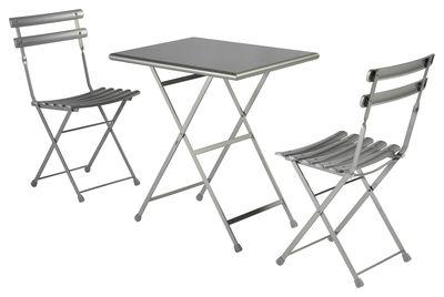 Set table & chaises Arc en Ciel / Table 70x50cm + 2 chaises - Emu aluminium en métal
