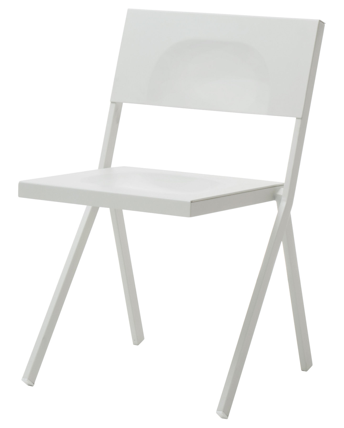 Furniture - Chairs - Mia Stacking chair - Metal by Emu - White - Aluminium, Steel