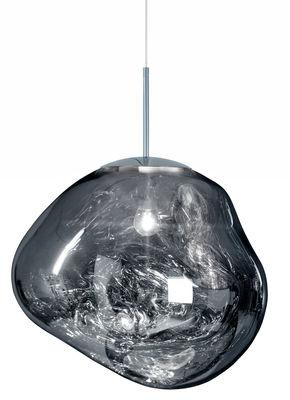 Suspension Melt / Ø 50 cm - Tom Dixon chromé en matière plastique