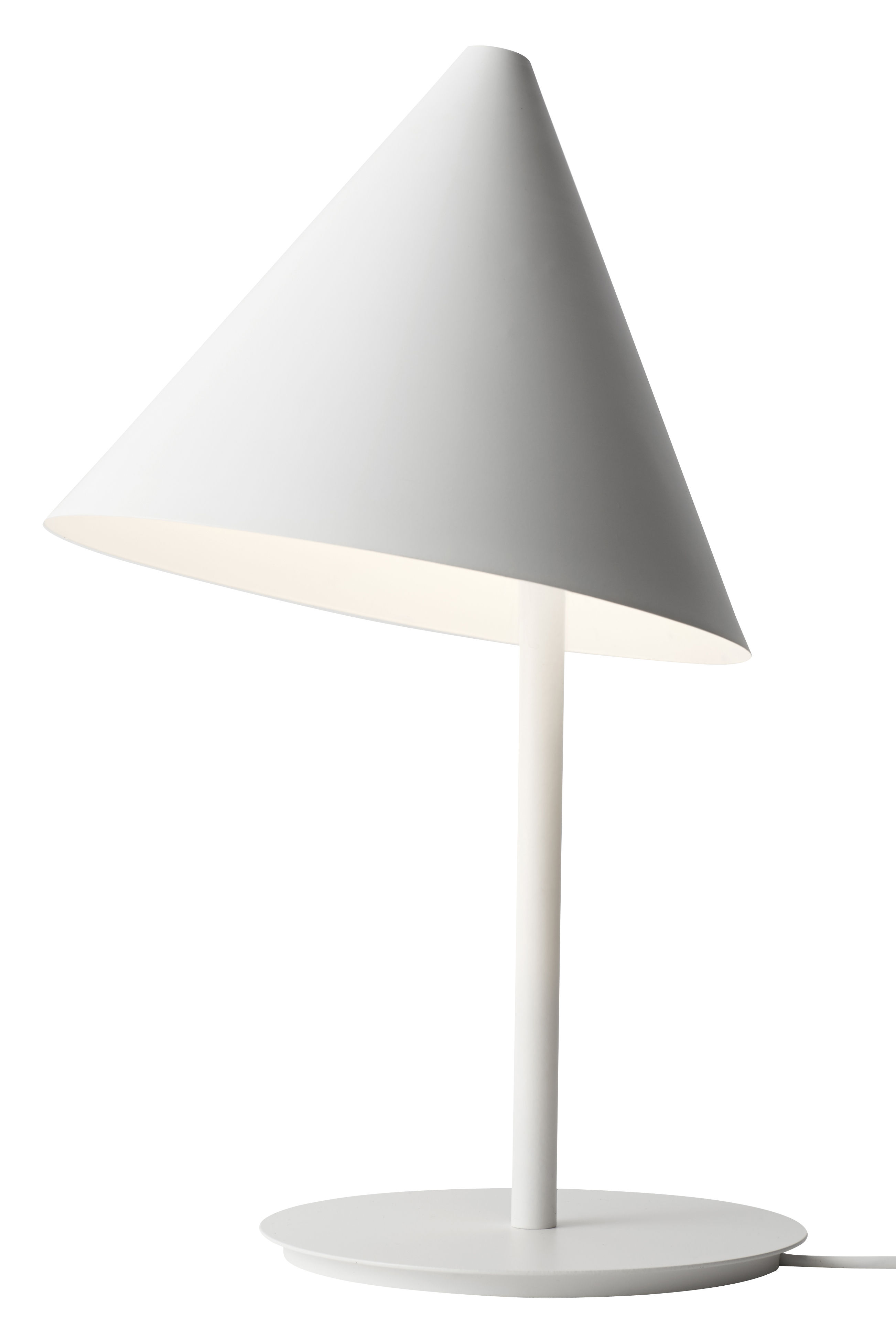 Lighting - Table Lamps - Conic Table lamp - H 50 cm by Menu - White - Steel