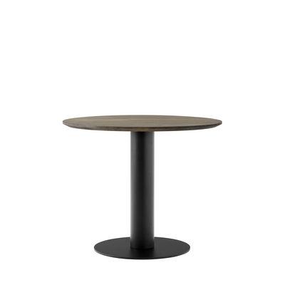 Table ronde In Between SK11 / Pied central - Ø 90 - Chêne - &tradition chêne fumé en métal