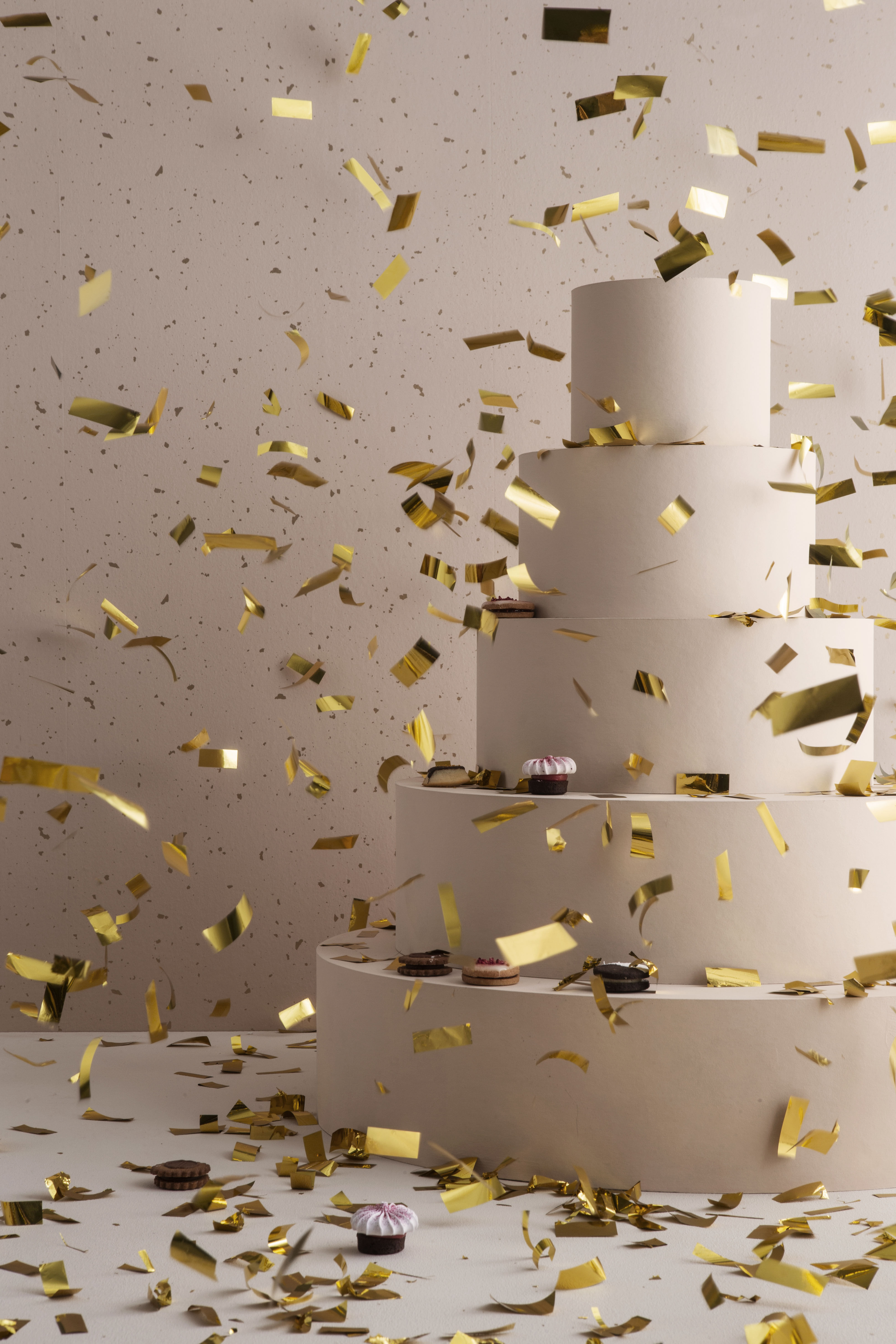 Confetti Tapete 1 Bahn B 53 Cm Rosa Gold By Ferm Living