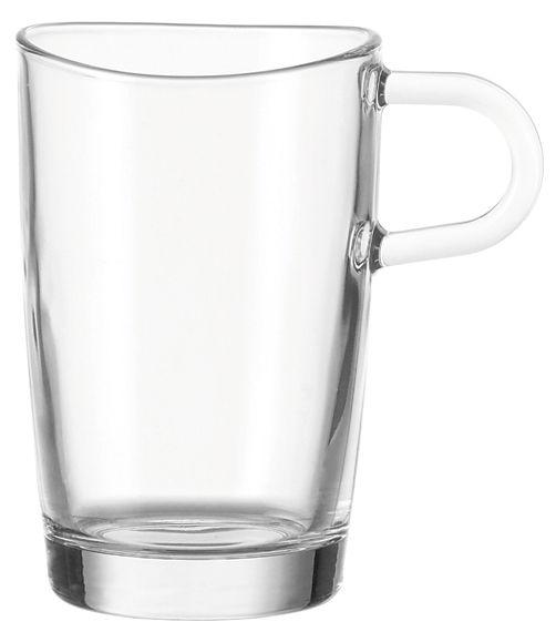 Tischkultur - Tassen und Becher - Loop Tasse - Leonardo - Transparent - Glas
