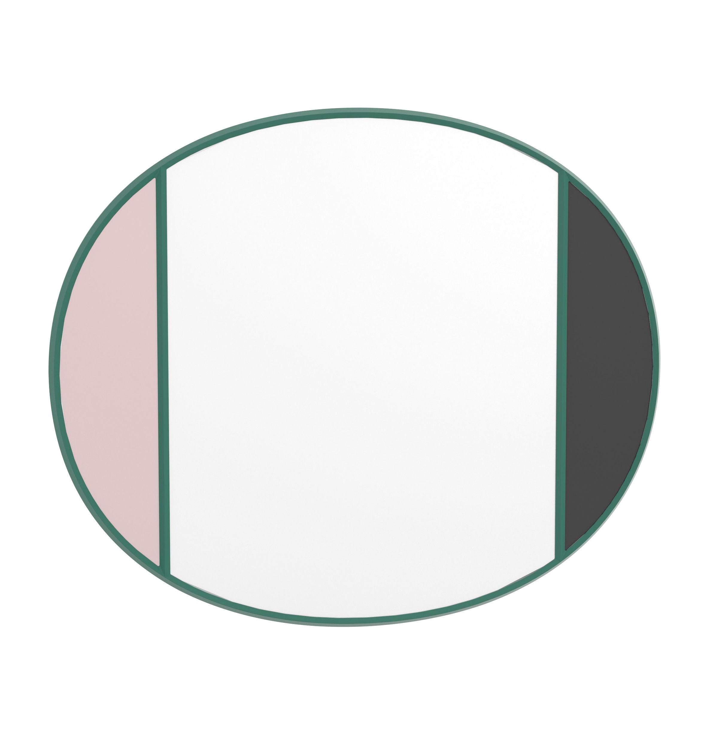 Decoration - Mirrors - Vitrail Wall mirror - / 50 x 60 cm by Magis - Green frame / Pink & grey - Glass, Rubber