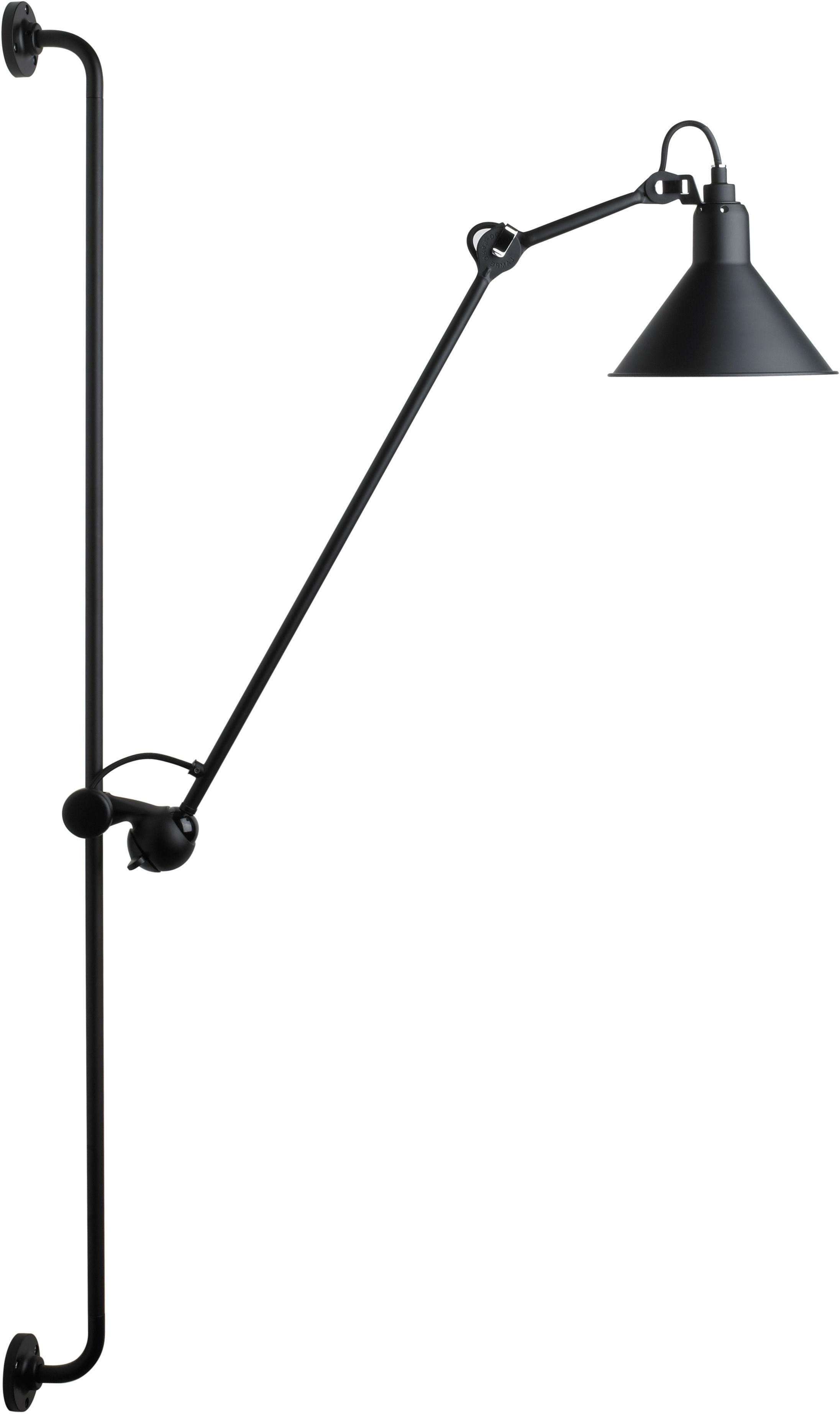 Leuchten - Wandleuchten - N°214 Wandleuchte mit Stromkabel - DCW éditions - Schwarz-matt (satiniert) - Stahl