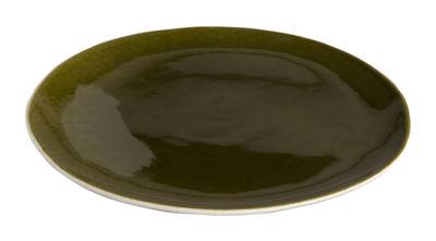 Assiette à dessert Bazelaire Ø 19cm- Faïence émaillée - Sentou Edition vert en céramique