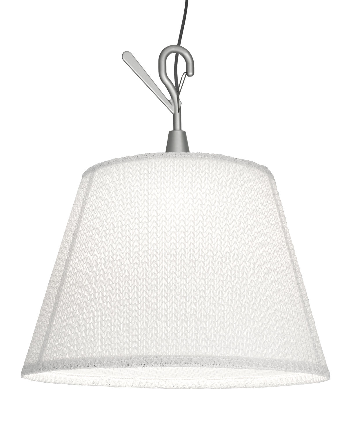Luminaire - Lampes de table - Baladeuse Tolomeo Paralume LED Outdoor / à suspendre - Artemide - Blanc - Aluminium, Tissu Thuia