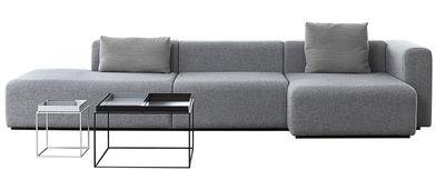 Canapé d'angle Mags / L 342 cm - Accoudoir droit - Hay gris clair en tissu