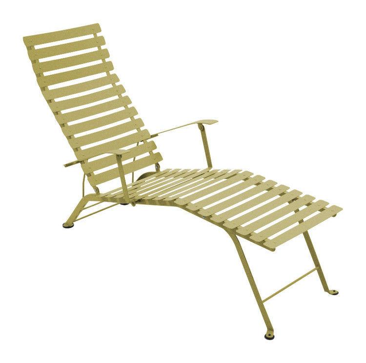 Outdoor - Chaises longues et hamacs - Chaise longue Bistro - Fermob - Tilleul - Acier laqué