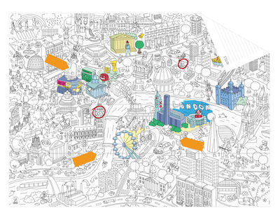Pocket Map - Londres Colouring poster - London by OMY Design & Play