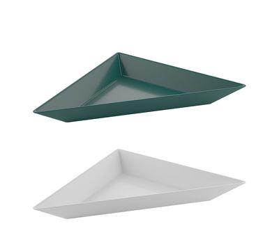Coupelle Tangram / Set de 2 - 20 x 10 cm - Koziol vert sapin,blanc coton en matière plastique