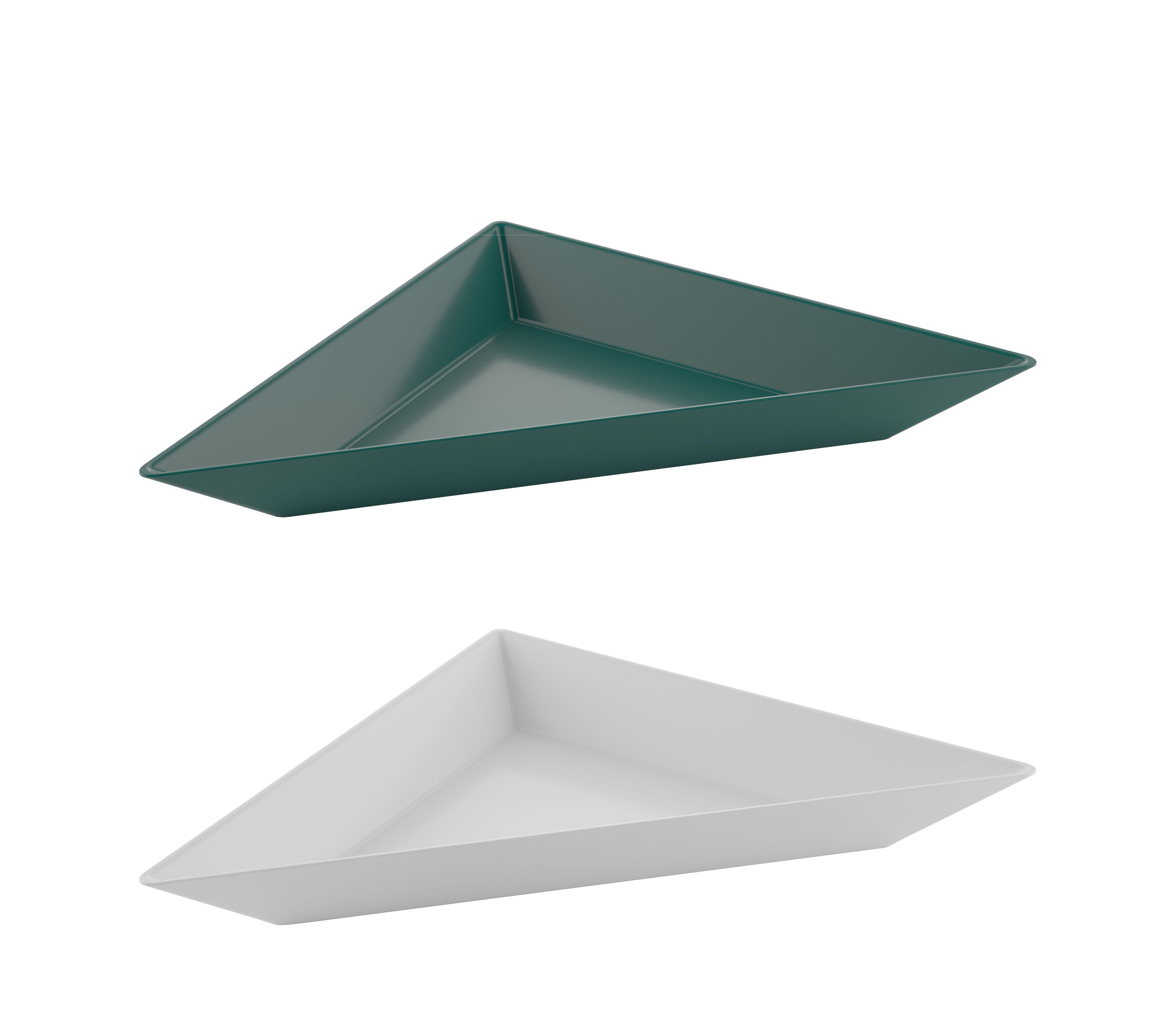 Arts de la table - Saladiers, coupes et bols - Coupelle Tangram / Set de 2 - 20 x 10 cm - Koziol - Vert & coton - Plastique