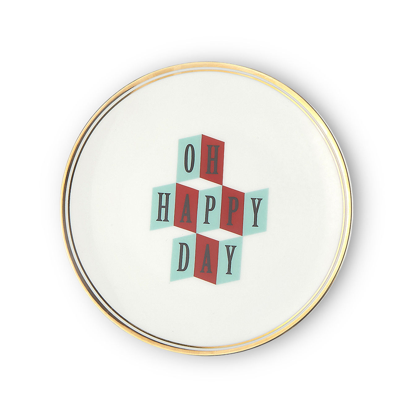 Tableware - Plates - Oh happy day Dessert plate - / Ø 17 cm by Bitossi Home - Oh Happy Day - China