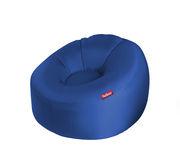 Chaise gonflable Lamzac O Tissu Ø 103 cm Fatboy bleu pétrole en tissu