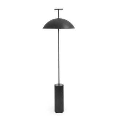 Lighting - Floor lamps - Geen-a Floor lamp - / Reading light - Steel / H 132 cm by Kartell - Black - Powder coated steel