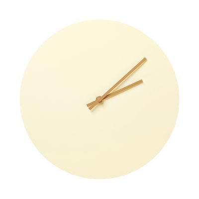 Horloge murale Steel / Ø 30 cm - Menu jaune en métal