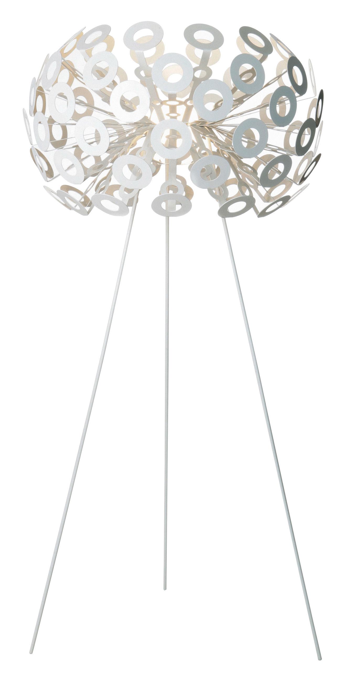 Illuminazione - Lampade da terra - Lampada a stelo Dandelion di Moooi - Blanc - Acciaio verniciato