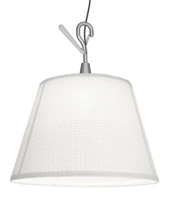 Illuminazione - Lampade da tavolo - Lampada Tolomeo Paralume Outdoor / Portatile da appendere - LED - Artemide - Bianco - Alluminio, Tissu Thuia